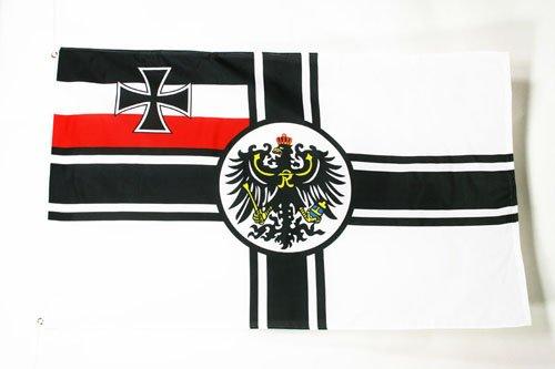 GERMANY WWI FLAG 3' x 5' - IMPERIAL GERMAN FLAGS 90 x 150 cm - BANNER 3x5 ft - AZ FLAG