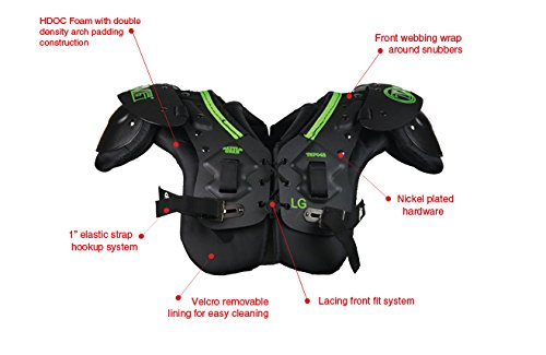 TAG Battle Gear II Youth Football Shoulder Pad TSP45 (T-Hook Lockdown Side Strap) 2X-Large by TAG (Image #2)
