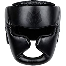 FitsT4 Boxing MMA Muay Thai Kickboxing UFC Sparring Helmet Fighting Training Headgear Head Guard Protector with Nose Protection