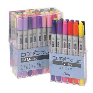 COPIC CIAO BASIC SET 12PC Drafting, Engineering, Art (General Catalog) by COPIC