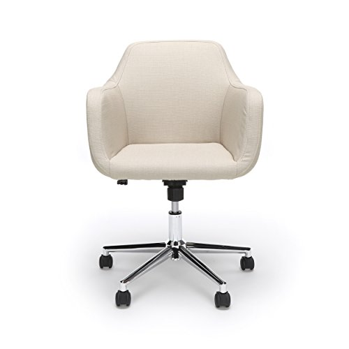 Essentials Upholstered Home Office Chair – Ergonomic Desk Chair with Arms for Conference Room or Office, Tan (ESS-2085-TAN)