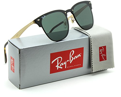 Ray-Ban RB3576N Blaze Clubmaster Unisex Sunglasses 043/71 - - Ray Black Gold Clubmaster And Ban