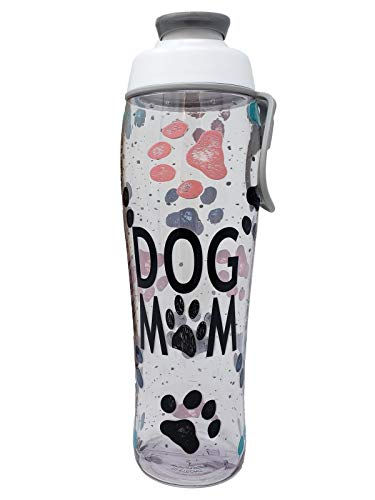 50 Strong Dog Mom Water Bottle – 30 oz. BPA Free W/Flip Top Cap for Dog Lovers, Moms, Friend, Christmas, Birthday, Thank You, Pet Care, Dog Lady – Gifts for Girls Who Love Dogs (Dog Mom, 30 oz.)