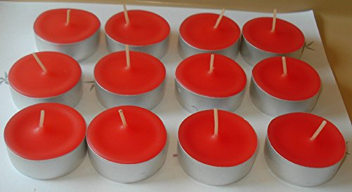 12 Pack of Holly Berry Scented Soy Tealight Candles ()