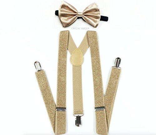 Unisex Fashion Glitter Champaign Suspenders product image