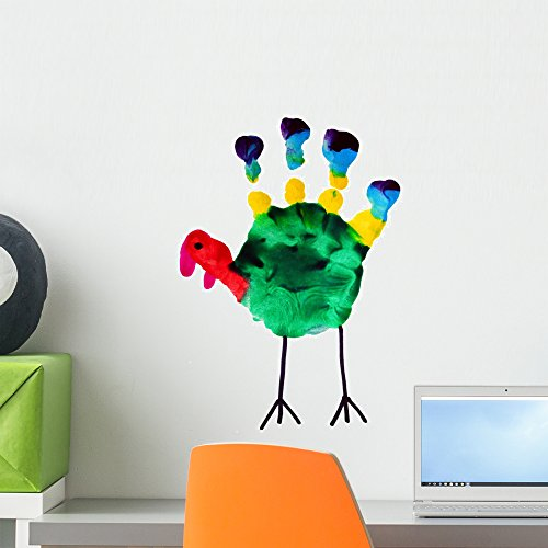 Wallmonkeys Thanksgiving Turkey Child Art Wall Decal Peel and Stick Graphic (18 in H x 13 in W) WM102722