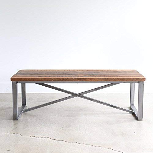 X-Frame Reclaimed Wood Coffee Table (Table Frame Farmhouse Wood)