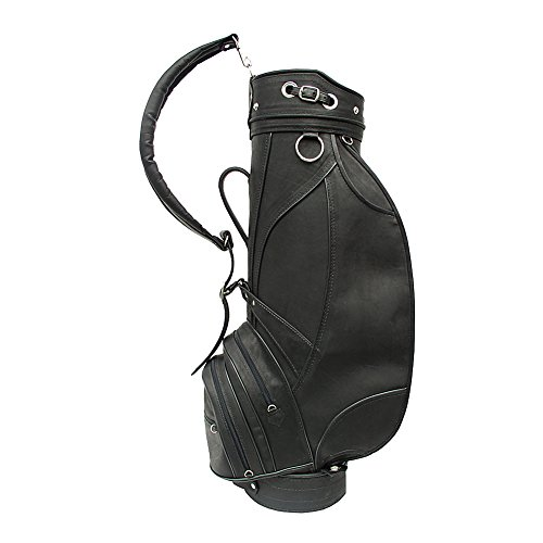 - Piel Leather Deluxe 9in Golf Bag Blk, Black