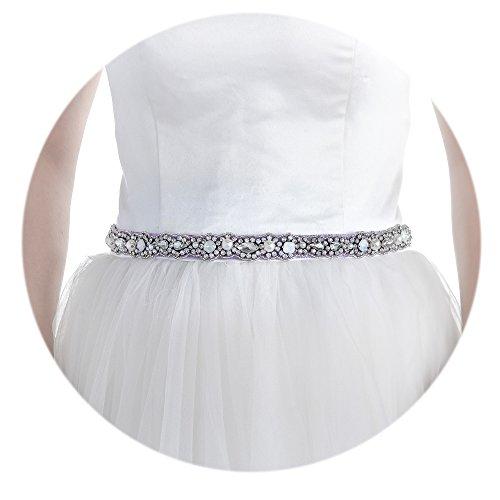 Top Queen Women's Beaded Bridal Belt Bridal Sash Wedding ...