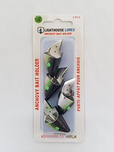 Lighthouse Lures Anchovy Teaser Heads 4 Pack (Black Green -