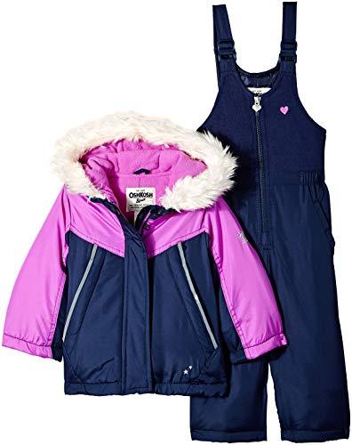 OshKosh Girls Printed Heavey Weight Winter Coat and Snow Pants