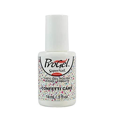 (super nail Progel Sweet Boutique, Confetti Cake, Glitter)