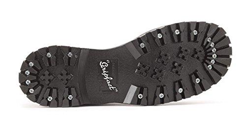 Gripfast 3 Eyelet Steel Toe Shoe Hecho En Reino Unido Negro