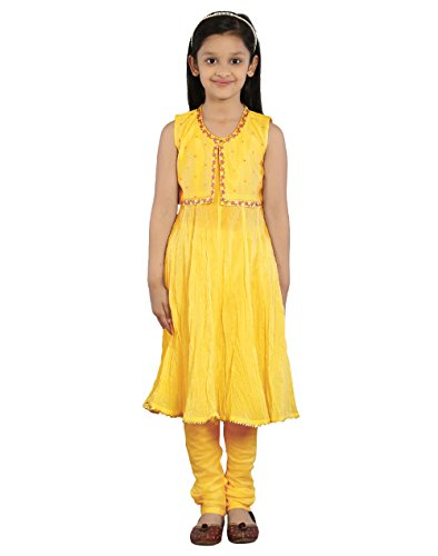 Fabindia Girls Cotton Churidar Set/3-4Yr by Fabindia