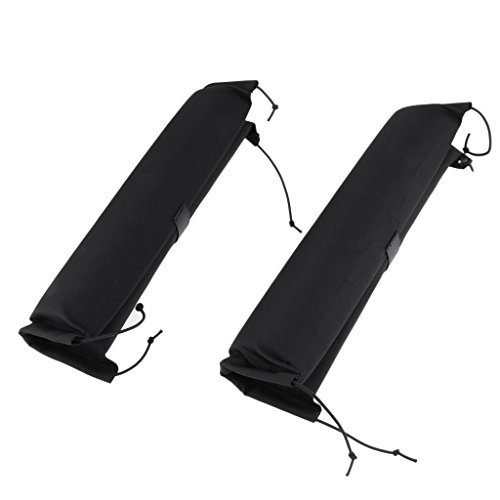 D DOLITY 1 Pair Padded Kayak Dinghy Canoe Surfboard SUP Car Roof Bar Rack Protective Pads 40cm Long by D DOLITY