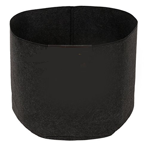 Pot 150 Gallon , Black Round, Case of 12 by Essential Pot