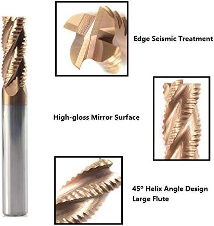 rev/êtement TiCN 1 Fraise /à fa/çonner 4-12 mm XBF-TOOL Fraise /à 4 cannelures CNC 4x10xD4x50L