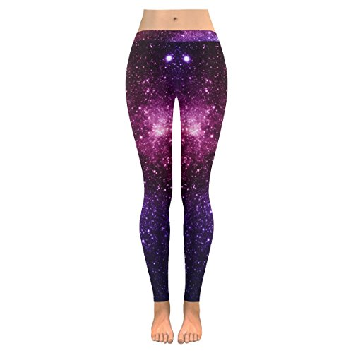 INTERESTPRINT Universe Galaxy Space Custom Stretchy Leggings Skinny Pants for Yoya Running Pilates Gym M