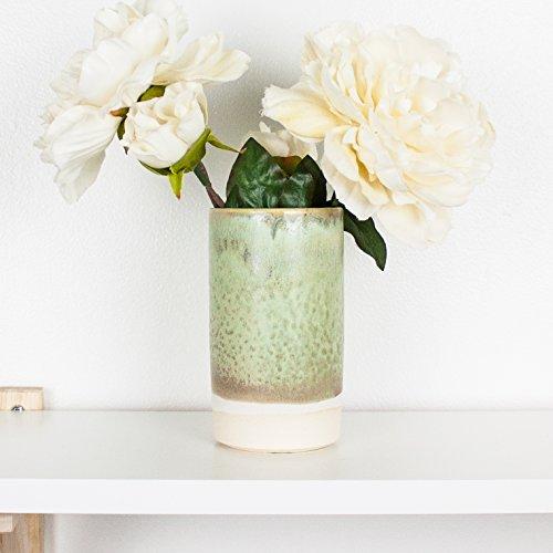 Sage Green Ceramic Cylinder Bud Vase by Barombi Studios (Sage Green Glazed)