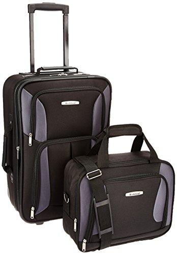 Rockland Luggage 2 Piece Set, Black/Gray, One Size