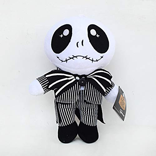 CHITOP The Nightmare Before Christmas -Jack Skellington Plush Toys Doll Skull Jake Plush Stuffed Toys- for Children Kids Gifts 20-25CM (25cm Standing) -