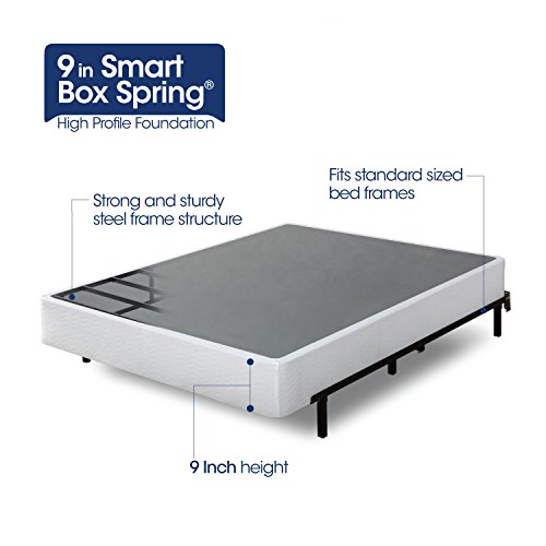 Zinus 9 Inch High Profile Smart Queen Box Spring Easy