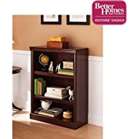 Better Homes and Gardens Ashwood Road 3-Shelf Bookcase, Cherry Finish