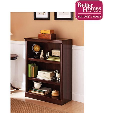 (3-Shelf, 2 Adjustable Shelves Ashwood Road Bookcase, Cherry (1))