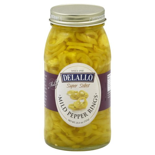 Banana Mild Peppers (Delallo Mild Banana Pepper Ring, 25.5 Ounce -- 6 per case.)