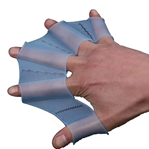 09d1e7c7d455 ... Webbed Paddle Swimming Flippers Training Dive Glove. Silicone Swimming  Flippers Hand Blue