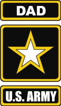 Army Dad Decal (United States Army Star Dad Decal Sticker 3.8