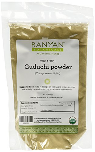 Banyan Botanicals Guduchi Powder - Certified Organic, 1/2 Pound - Tinospora cordifolia - An excellent rejuvenative for vata and pitta that supports overall health and well-being*