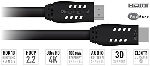 Key Digital Commercial 16ft CL3/FT4 High Speed HDMI Cable by Key Digital