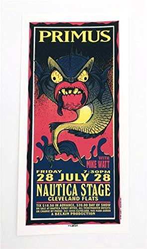Silkscreen Concert Poster - Primus Mike Watt Rock Concert Silkscreen Handbill Poster Mark Arminski
