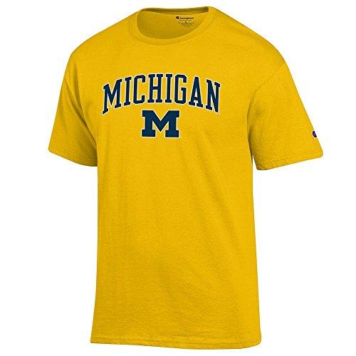 - Elite Fan Shop Michigan Wolverines Tshirt Varsity Maize - M