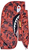 Customs Slippery Apparel | Designer Durag (30+ Designs) Fashion Durags LV Supreme Ape & More (Red Ape Shark)