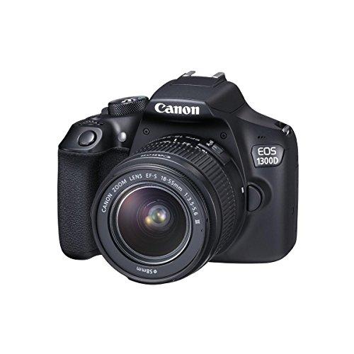 Canon EOS 1300D + 18-55 MK III Kit Cámara Digital/Lente, White