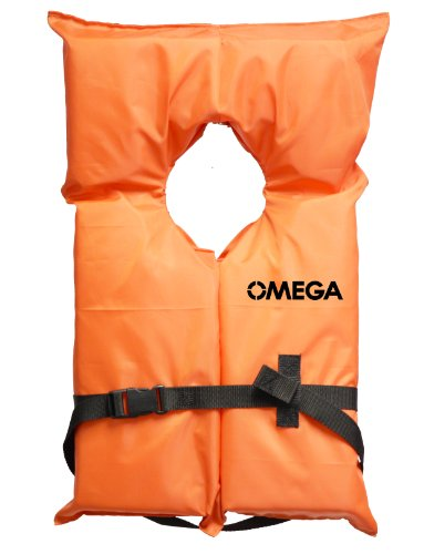 Flowt 40000-YTH AK-1 Type II Life Jacket, Orange, Youth