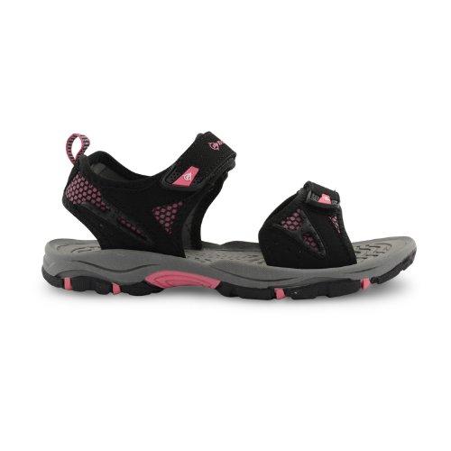 Dunlop - Sandalias deportivas para mujer negro negro negro/rosa