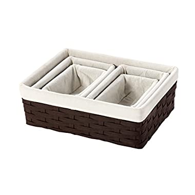 Nesting Basket - Utility Storage Baskets - 5 Piece Set - Various Sizes