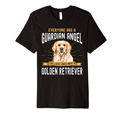(My Golden Retriever is a Guardian Angel T shirt Gift)