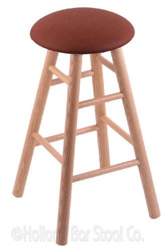 Pub Natural Oak Stool Swivel - Oak Extra Tall Bar Stool in Natural Finish with Rein Adobe Seat