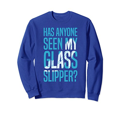 Unisex Disney Cinderella Missing Slipper Text Graphic Sweatshirt 2XL Royal Blue