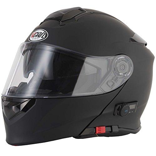 Matt Black Motorbike Helmet - 2