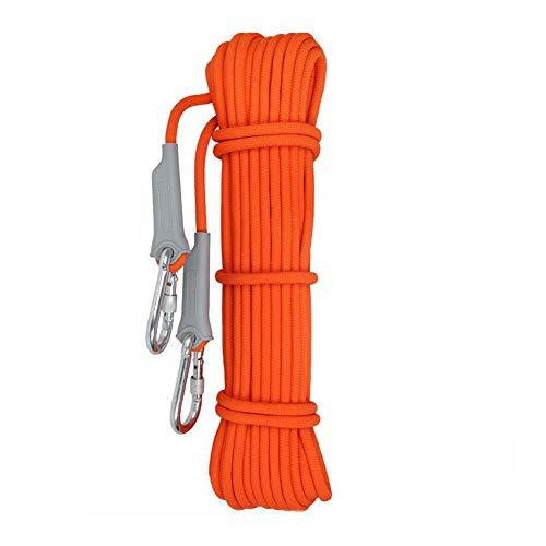 ホバー独立一杯ラペリング、補助、火災脱出航空工事、多目的ロープ、直径12mmの安全丈夫な高品質のロープ10-100メートルのためにロープを登る (色 : オレンジ, サイズ : Diameter 12 mm/50M)