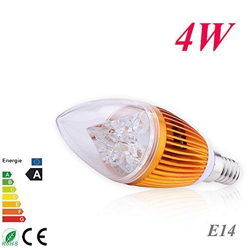 Techbox Candle Light Bulb Energy Saving Warm White High Power Overclocking Lights 4W E14 LED Golden