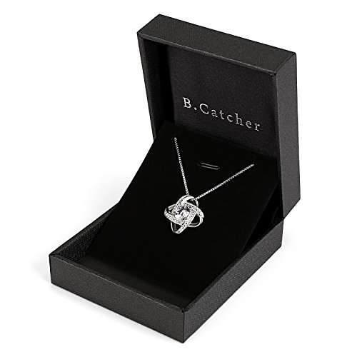 B.Catcher Silver Necklace Womens 925 Silver Cubic Zirconia Pendant Gemini Necklace Mother's Day Gift by B.Catcher (Image #5)