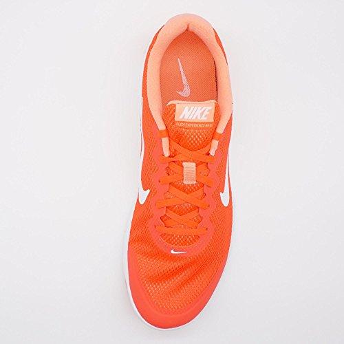 Nike Wmns Flex Experience Rn 4, Zapatillas de Running Unisex Adulto Naranja (Brght Crmsn / White-Atmc Pnk-Whi)