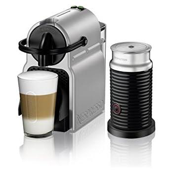 Nespresso Inissia Espresso Machine by DeLonghi with Aeroccino, Silver