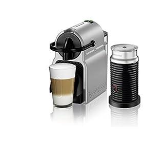 Nespresso Inissia Original Espresso Machine with Aeroccino Milk Frother Bundle by De'Longhi, Silver
